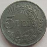 Moneda 5 Lei- 1942 zinc - ROMANIA *cod 3482