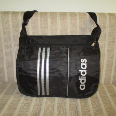 Geanta unisex Adidas neagra cu alb+CADOU
