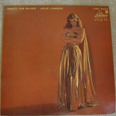 JULIE LONDON - About The Blues - LP Original FRANCE - Muzica Blues, VINIL