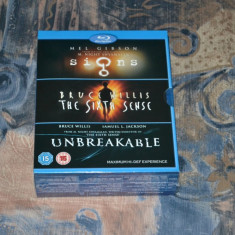 Film - Signs / The Sixth Sense / Unbreakable [3 Filme - 3 Discuri Blu-Ray], UK - Film actiune disney pictures, Engleza
