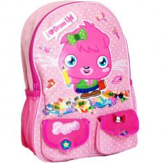 Ghiozdan gradinita cu buzunare, Moshi Poppet, roz - Rucsac Copii
