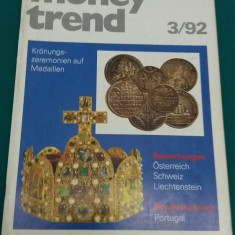 REVISTĂ NUMISMATICĂ/ MONEY TREND/ NR. 3*1992/ TEXT LIMBA GERMANĂ