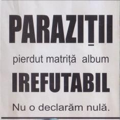 Caseta audio Parazitii - Irefutabil (2002) - stare foarte buna - Muzica Hip Hop, Casete audio