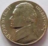 Moneda 5 Centi / Five Cents - SUA, anul 1974 *cod 3516, America de Nord
