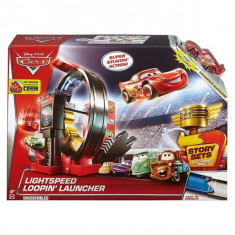 Jucarie Pista Cars Lightspeed Loopin Launcher DJC57 Mattel - Masinuta