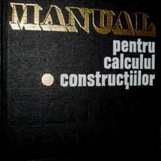 Manual pentru calculul constructiilor - Andrei D. Caracostea (1977) - Carti Constructii