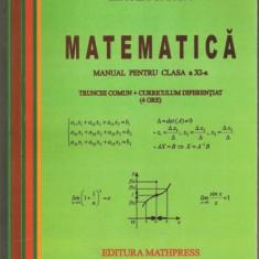 M.Ganga-Matematica manual cl. a XI-a - Manual scolar Altele, Clasa 11