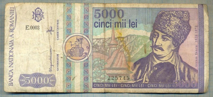 A1501 BANCNOTA-ROMANIA- 5000 LEI-1992-SERIA 0003-AVRAM IANCU-starea care se vede
