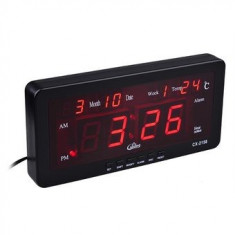 Ceas digital led alarma negru Caixing CX-2158 - Ceas led