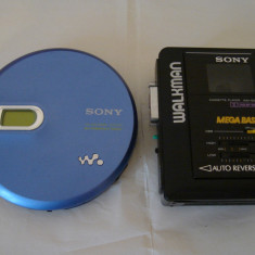 Walkman SONY WM-B39+CD player portabil D-EJ 761+CD TECHNICS SL-XP1 (DEFECTE) - Casetofon