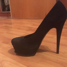 Pantofi YSL marimea 38 - Pantof dama Yves Saint Laurent, Culoare: Negru