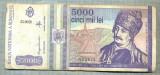 A1527 BANCNOTA-ROMANIA- 5000 LEI-1993-SERIA 0026-AVRAM IANCU-starea care se vede