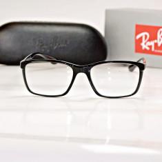 Rama de ochelari de vedere Ray Ban RB 7036 5206 Lite Force negru lucios - Rama ochelari Ray Ban, Unisex, Patrate, Plastic, Rama intreaga, Fashion