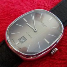 Superb ceas TIMEX 100-barbatesc -mecanic! - Ceas barbatesc Timex, Elegant, Mecanic-Manual, Inox, Piele, Data
