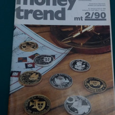 REVISTĂ NUMISMATICĂ/ MONEY TREND/ NR. 2*1990/ TEXT LIMBA GERMANĂ