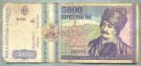 A1532 BANCNOTA-ROMANIA- 5000 LEI-1992-SERIA 0006-AVRAM IANCU-starea care se vede