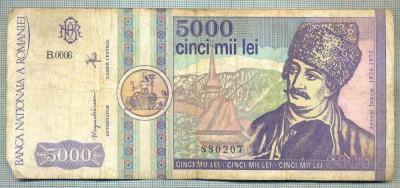A1532 BANCNOTA-ROMANIA- 5000 LEI-1992-SERIA 0006-AVRAM IANCU-starea care se vede foto