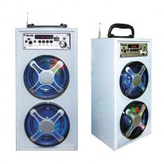 SISTEM KARAOKE BOXA ACTIVA, MIXER, MP3 PLAYER, ACUMULATOR, INT.MICROFON, AFISAJ LCD. - Echipament karaoke