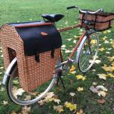 Bicicletă de oraş cu coşuri împletite, 22 inch, 28 inch, Numar viteze: 2