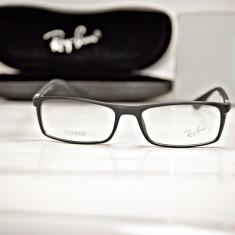 Rama de ochelari de vedere Ray Ban RB7035 5204 A Lite Force negru mat, Unisex, Patrate, Plastic, Rama intreaga