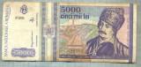 A1526 BANCNOTA-ROMANIA- 5000 LEI-1993-SERIA 0006-AVRAM IANCU-starea care se vede