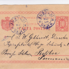 CARTE POSTALA 1894 , BUSTENI GARA - RATIBOR ( GERMANIA )