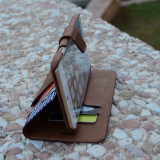 Husa unica din piele tip portofel extra slim iPhone 6/ 6s Plus