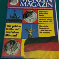 REVISTĂ NUMISMATICĂ/ MUNZEN MAGAZIN/ NR. 6*1991/ TEXT LIMBA GERMANĂ