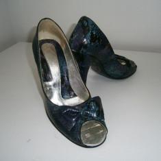 Pantofi dama decupati, marimea 36! - Pantof dama, Culoare: Din imagine, Cu platforma