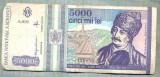 A1514 BANCNOTA-ROMANIA- 5000 LEI-1993-SERIA 0030-AVRAM IANCU-starea care se vede