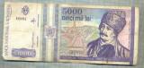 A1515 BANCNOTA-ROMANIA- 5000 LEI-1993-SERIA 0014-AVRAM IANCU-starea care se vede