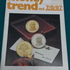 REVISTĂ NUMISMATICĂ/ MONEY TREND/ NR. 7*8/1987/ TEXT LIMBA GERMANĂ