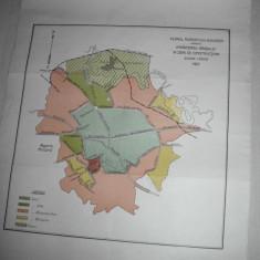 PLANUL BUCURESTIULUI ARATAND IMPARTIREA IN ZONE DE CONSTRUCTII, 1927 - Harta Romaniei