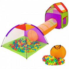 Tunel cu corturi de joaca model IGLU, portocaliu - Casuta copii, 2-4 ani, Unisex, Plastic