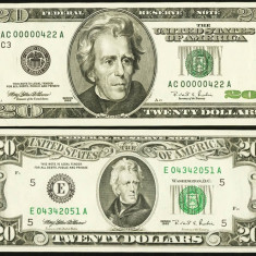 SUA - 20$ 1995-1996 - Premium Historical Portfolio - Philadelphia and Richmond - bancnota america