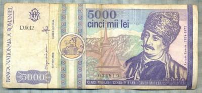 A1511 BANCNOTA-ROMANIA- 5000 LEI-1992-SERIA 0012-AVRAM IANCU-starea care se vede foto