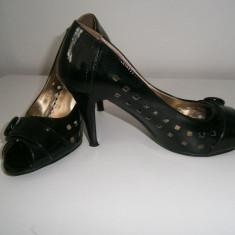 Pantofi dama lacuiti, negri, Lumansi, marimea 37! - Pantof dama, Culoare: Din imagine, Cu platforma