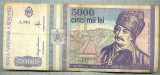 A1521 BANCNOTA-ROMANIA- 5000 LEI-1993-SERIA 0004-AVRAM IANCU-starea care se vede