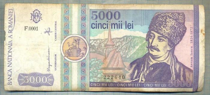 A1507 BANCNOTA-ROMANIA- 5000 LEI-1992-SERIA 0001-AVRAM IANCU-starea care se vede