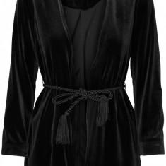 Blazer catifea cu cordon - Vero Moda - art. 10164935 negru - Sacou dama Vero Moda, Marime: 36, 38, 40, 42