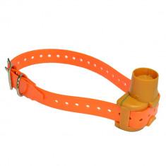 Aproape nou: Zgarda dresaj PNI D100P pentru caine de vanatoare, culoare portocalie