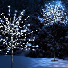 Decoratiune copac cu flori 200 LED-uri, pentru exterior, 8 moduri iluminare, 180 cm