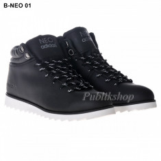 Bocanci Adidasi Neo negru - Bocanci barbati Adidas, Marime: 42, 43, 44, Culoare: Din imagine, Piele sintetica