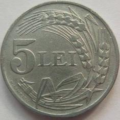 Moneda 5 Lei - ROMÂNIA, anul 1942 *cod 472 Zinc