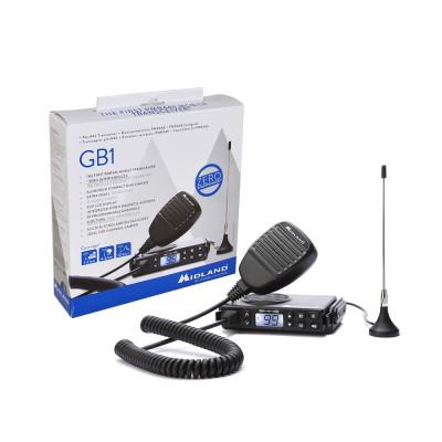 Resigilat : Statie radio PMR mobila Midland GB1 cu antena magnetica inclusa cod C1 foto