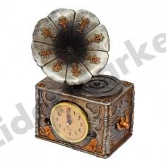 Ceas decorativ in forma de gramofon - Ceas de masa