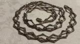 Colier argint cu romburi inlantuite si batute in marcasite VECHI Finut Elegant