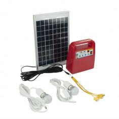 Aproape nou: Panou solar fotovoltaic PNI SUN02 Rosu kit cu acumulator 12V, USB/Radi
