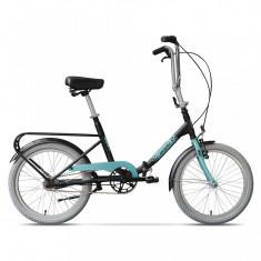 Practic Negru Mat, pliabilă cu 3 viteze - Bicicleta pliabile