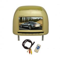 Resigilat : Tetiera cu monitor culoare bej model TTi-706 - Monitor Auto